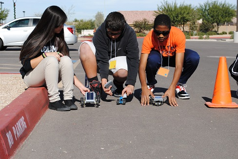 Laveen students participate in solar car challenge LaveenLegoCarsInside