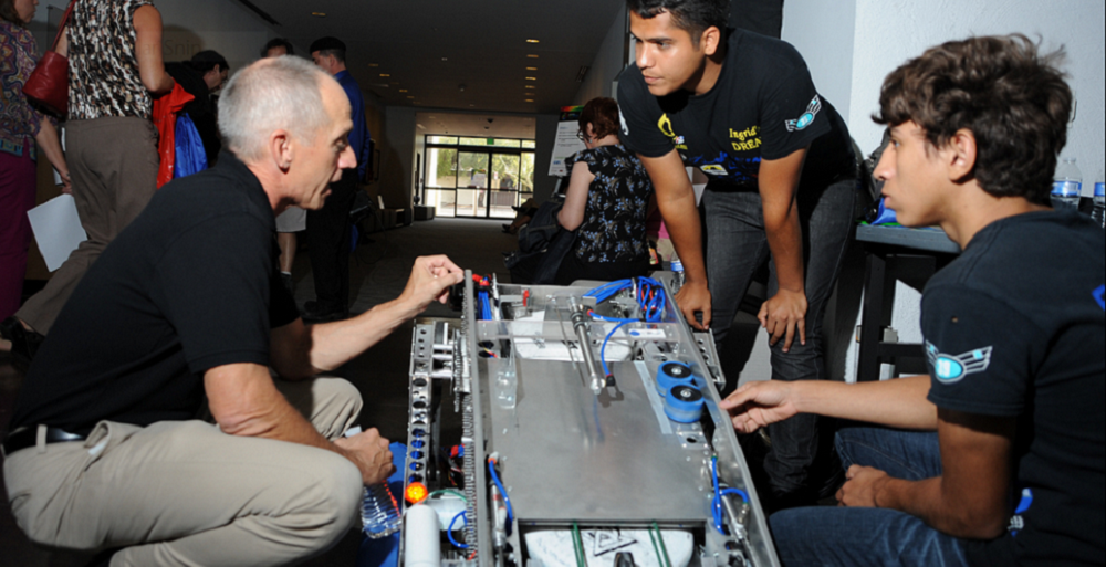 Statewide festival seeks to spark student interest in science, tech AZSciTech2014RoboticsHP1