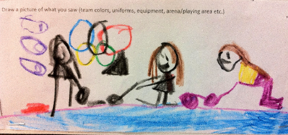 Glendale students draw what they saw during Olympics GlendaleOlympicsDrawingCurlingMatchHP