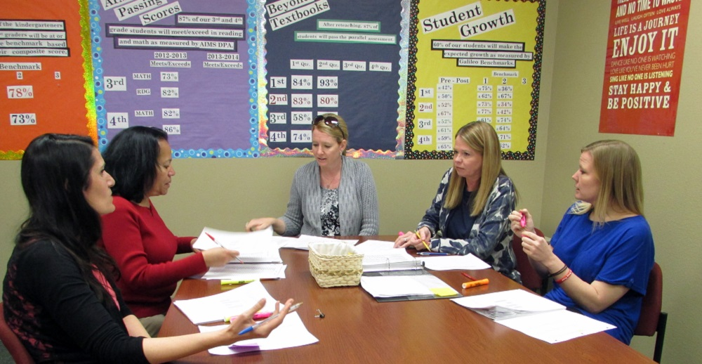 Beyond Textbooks helps schools boost achievement, adapt to new standards Second-Grade-Data-MeetingInside