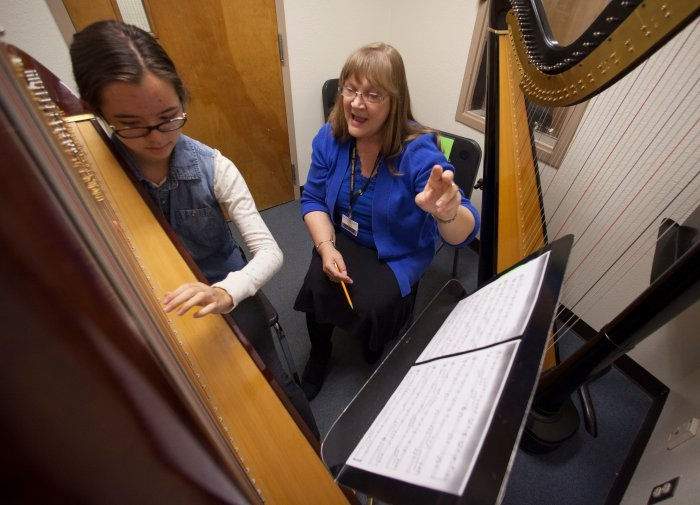 Miller wins Arizona's Excellence in Teaching Music Award karen.miller.harp_.specialist.Inside
