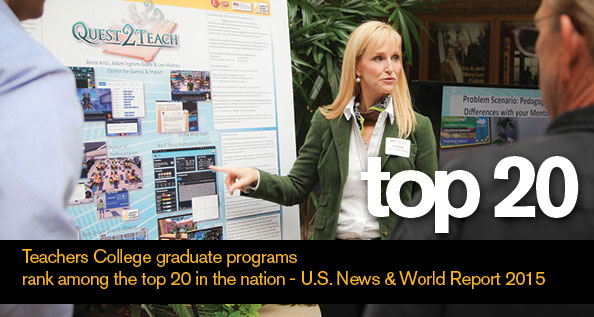 ASU Teachers College ranks in Top 20 ASUTOP20Inside