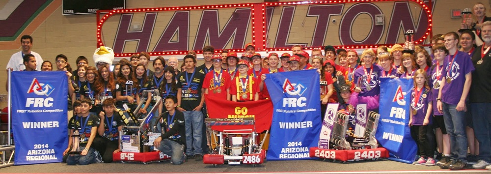 Carl Hayden robotics team wins FIRST robotics Arizona regional again CarlHaydenRoboticsHP