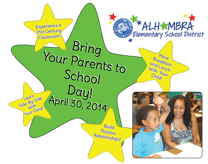 Alhambra hosts Bring Your Parents to School Day AlhambraBringYourParentsToSchoolDay