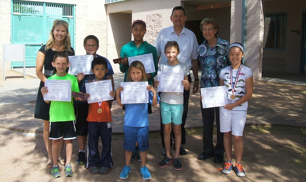 Anasazi students named state champions in handwriting contest Anasazi-Award-WinnersHP