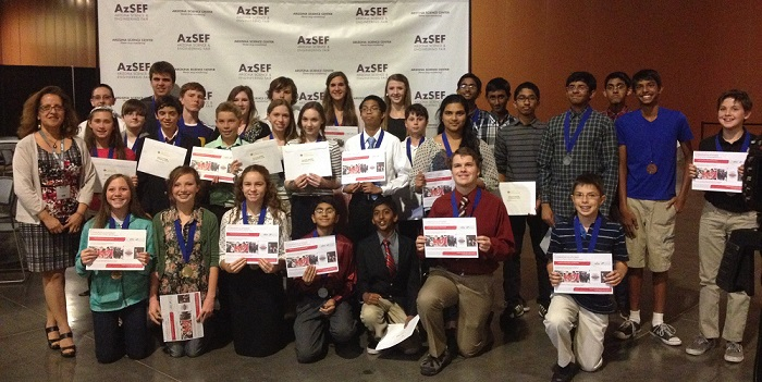 Photos: Arizona Science and Engineering Fair 2014 AzSEF_Broadcom-winners-700