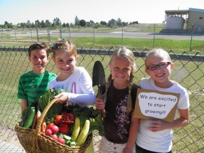 Highland Elementary competes for a garden grant highland.gardenInside