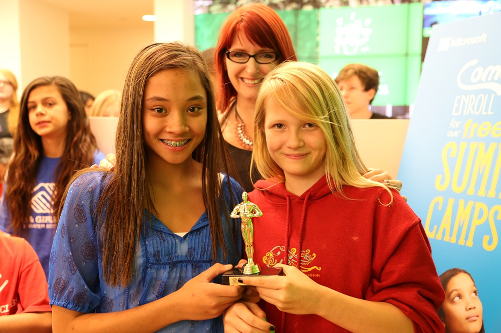 "Alexis F., 11, And Deenah S., 12  At The Thunderbirds Branch Won An Award For Best Stop Motion Animation For Their Work On ""Stopping Bullies."" This Film Also Won The Regional Award From Boys & Girls Clubs Of America In The Stop Motion Animation Category For 10- To 12- Year-olds."