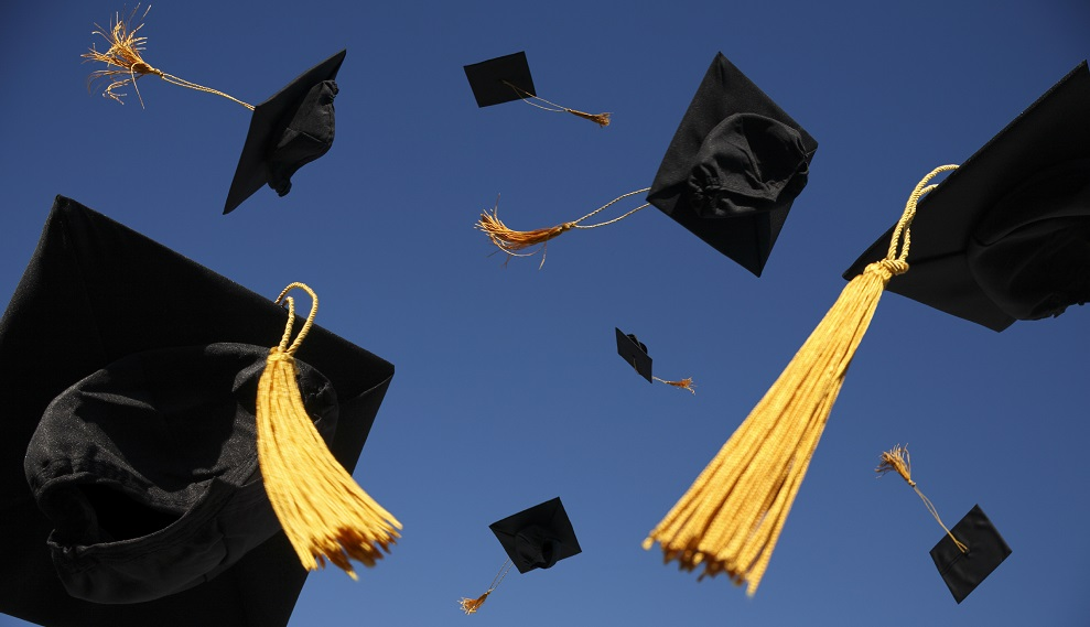 Summit calls for getting 'disconnected youth' back to school GraduationHatsHP