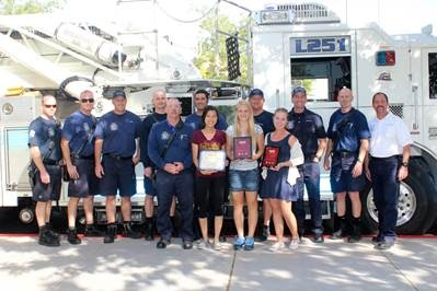 Centennial High School Students Jiaqui Wu, Left, Kylee Burgess, Center, And Mikayla Whalen, Right, Recently Received Two Awards From The SPARK App League For A Mobile App They Created For The Town Of Gilbert's Fire And Rescue Department. The Awards They Received Are: First All-Girl Team To Submit An App And Best Overall App. Photo Courtesy Of Peoria Unified School District