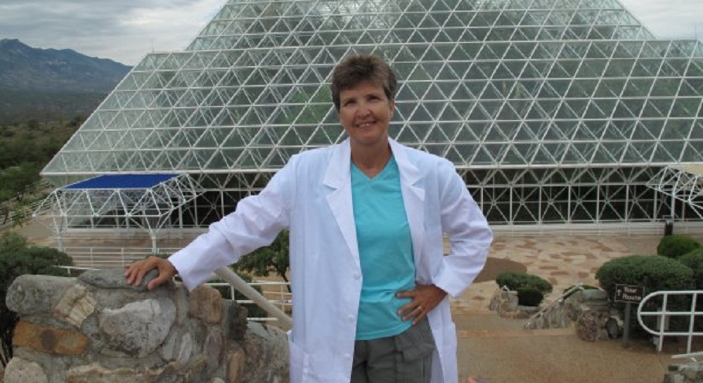 Legacy Traditional Schools Northwest Tucson Campus Science Teacher Barbara Cushing Stands Outside The Biosphere.