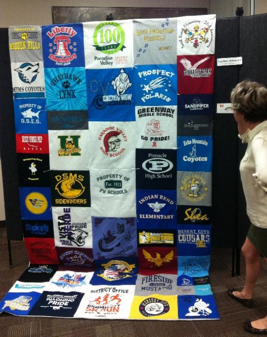 100 Years of Paradise Valley Unified School District PVUSD100YearsSchoolTShirtQuilt