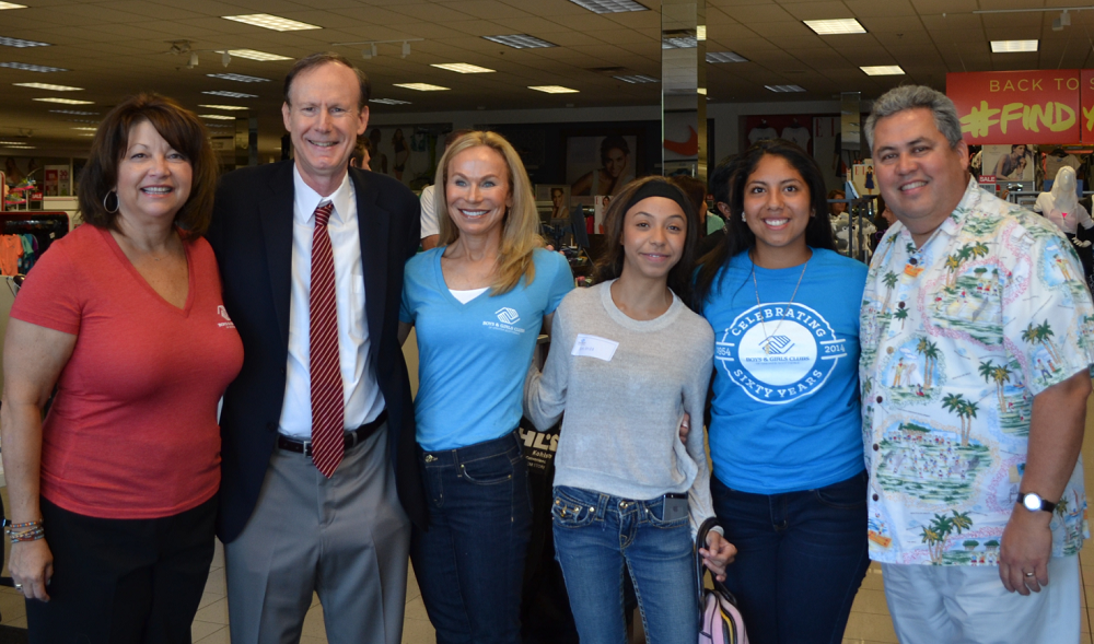 Michael And Ellie Ziegler With Boys & Girls Club Of Scottsdale Staff And A Student During Back To School Shopping For Local Youth In Need.