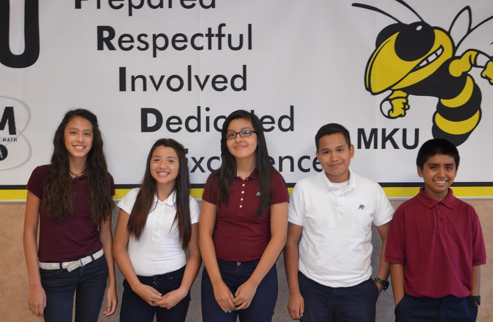 "Isaac students known as the ""Fab Five"" take honors geometry at high school Isaacfab-fiveInside"