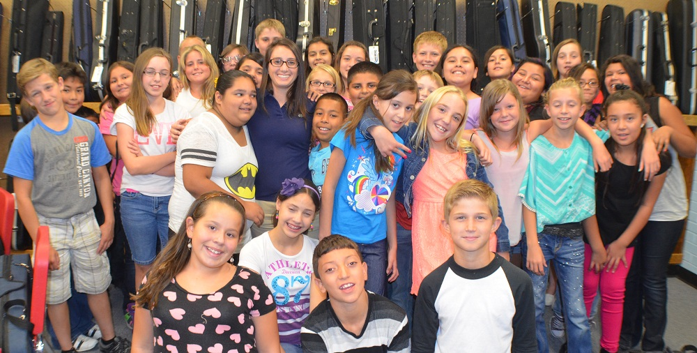 Why music - and teachers - matter: A Q&A with one of Arizona's top teachers MargieLooneyMiddleSchoolersCroppedHP