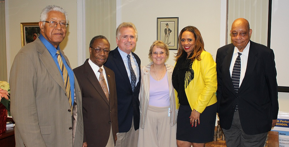 Members Of The African-American Advisory Council Met With The Superintendents. From Left To Right: Mel Hannah, Jesse Ary, Superintendent Huppenthal, Superintendent-elect Douglas, Dr. Ann Hart, C.T. Wright.