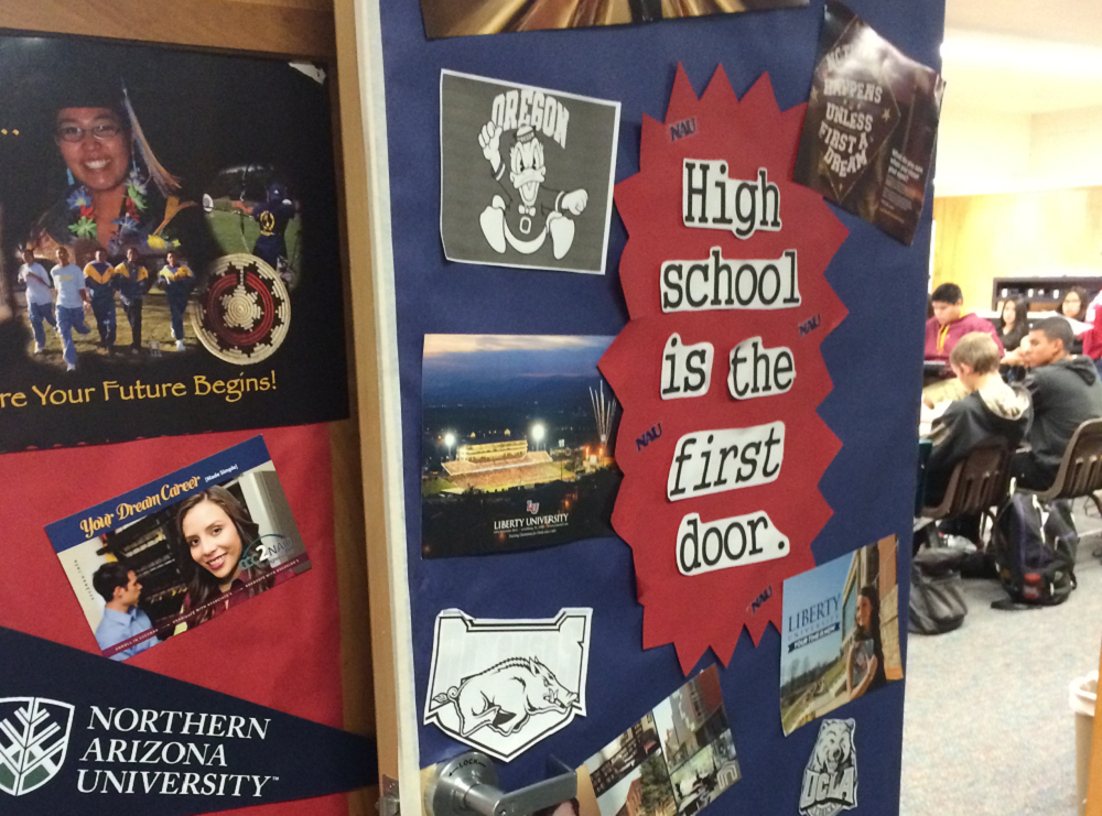 Coconino High School Had Every Senior Fill Out College Applications, And They Had A Contest To Decorate The Doors In The School Encouraging Students To Think About College.