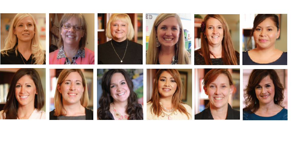 The 2015 Rodel Exemplary Teachers From Left To Right. Top Row: Brittany Betterton, Rebecca Cardon, Rosanne Carlson, Katrina Collins, Martha Daniels, And Zenaida Estrada. Bottom Row: Jennifer Hollenbeck, Stephanie Lund, Brianna Maxwell, Sylvia Miller, Nancy Rhode And Marnie Robles.