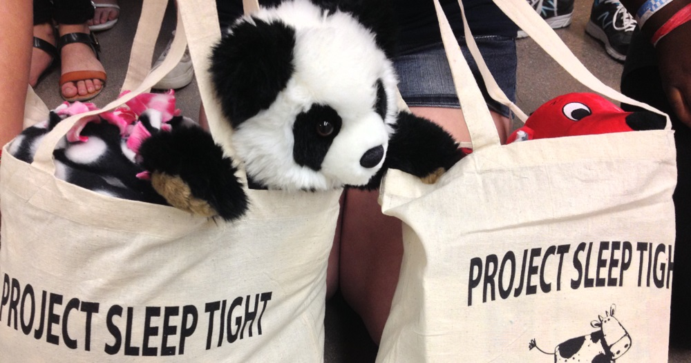 Sossaman Middle School Students Filled Tote Bags With Stuffed Animals, Books And Blankets To Donate To Children In Homeless Shelters Through The Gilbert-based Operation Sleep Tight. Photo Courtesy Higley Unified School District