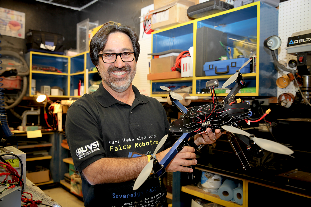 "ASU Education Graduate Faridodin ""Fredi"" Lajvardi Is A Passionate Advocate Of STEM, And A Dedicated Mentor To The Carl Hayden Community High School Robotics Team. Photo Courtesy Of Connie Waldo / Arizona State University's Mary Lou Fulton Teachers College"