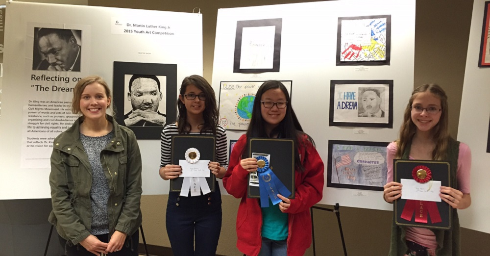 Higley students earn honors in MLK Jr. art competition Sossaman-MLK-art-winnersHP2