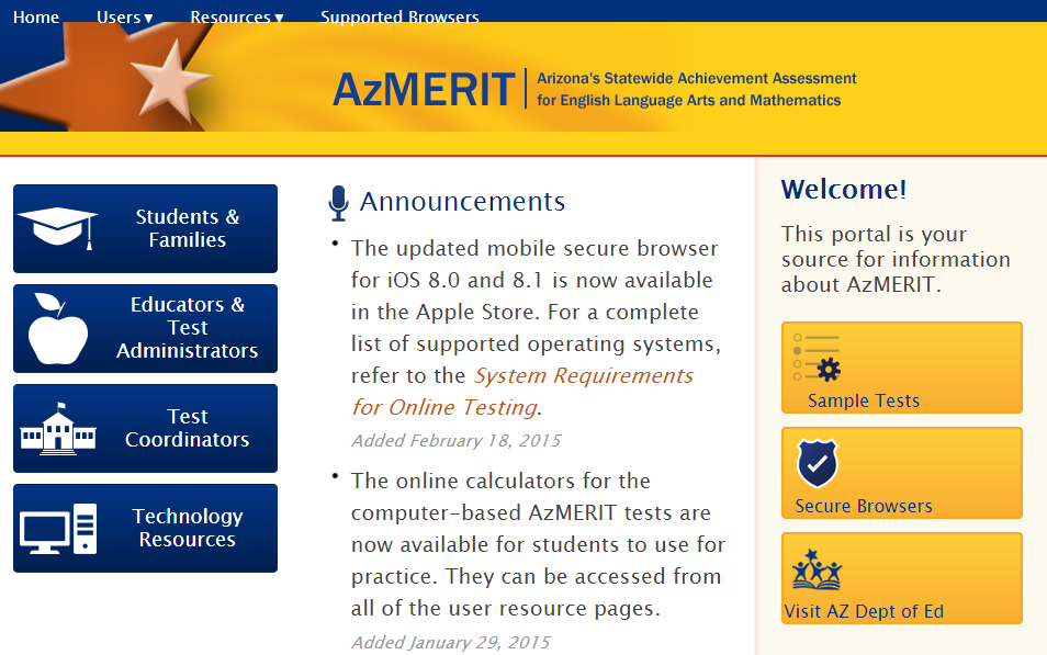 New AzMERIT statewide assessment rolls out to schools this week AZMERITPORTAL