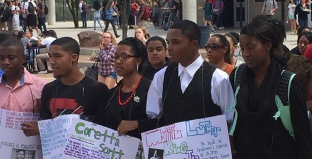 Vail High School Students Selma March Recreated