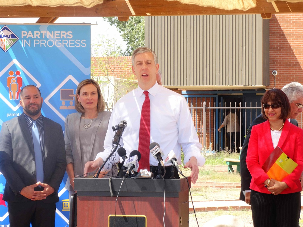 Duncan speaks at innovation summit, visits early childhood center in Phoenix ArneDuncanInside