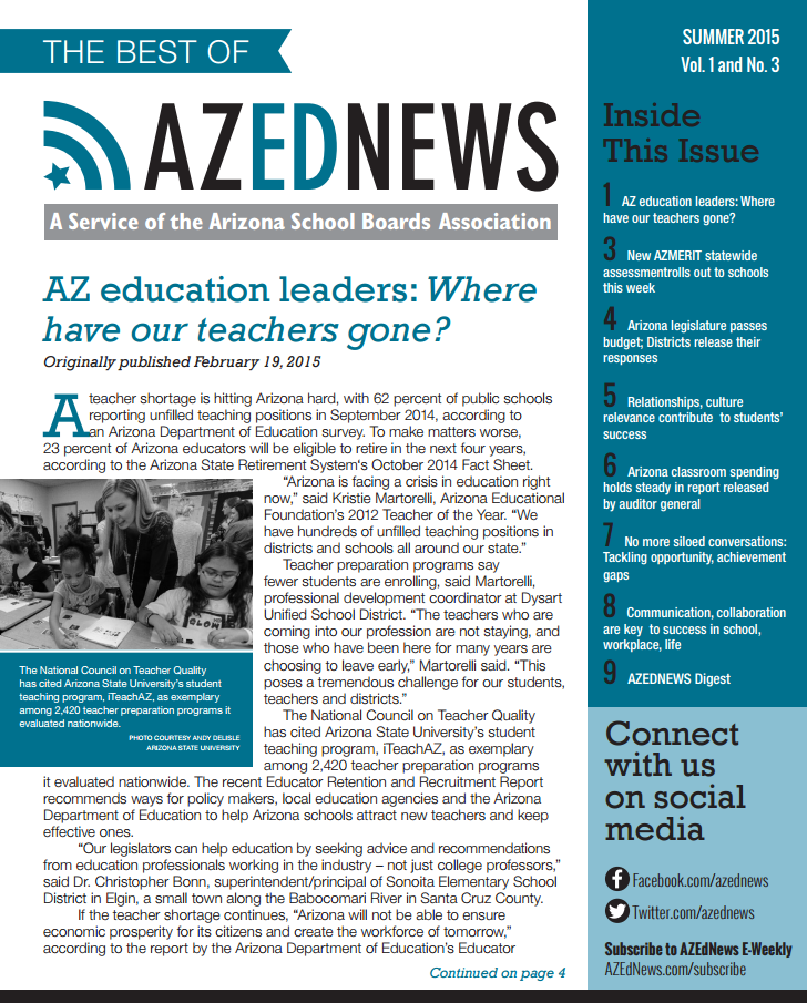 The Best Of AZEdNews – Spring/Summer 2015 Edition