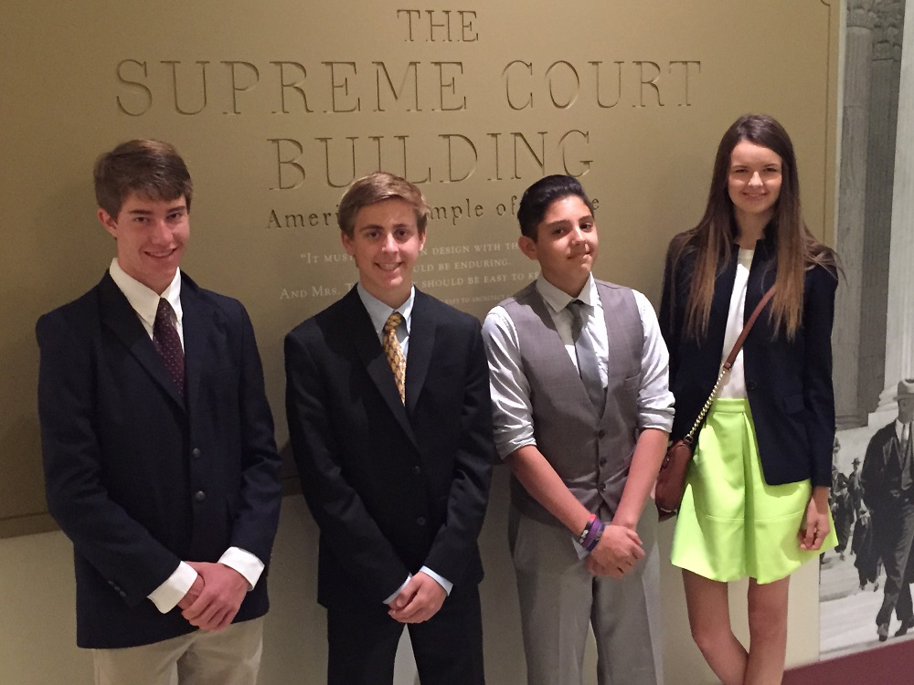 Students receive award for Magna Carta video, meet Supreme Court justice MagnaCartaStudentsInside