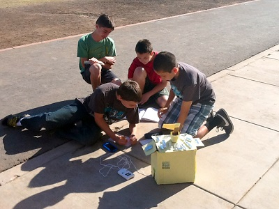Students use technology to study Valley's urban heat island UrbanHeatHouseInside