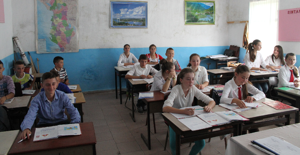 Albanian Classroom With Students
