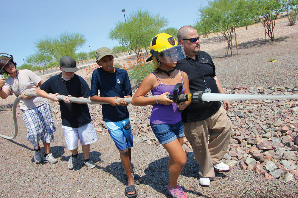 Kid's College Fire Academy At Estrella Mountain Community College