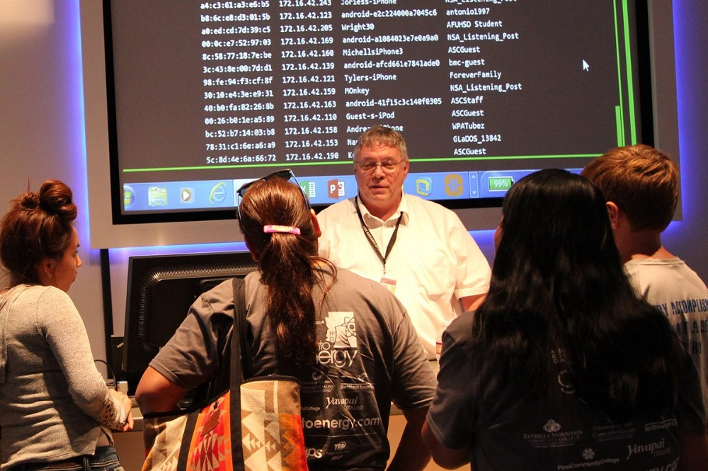 Estrella Mountain Community College Instructional Computing Faculty, Larry Heinz, Explains Cybersecurity To High School Students.