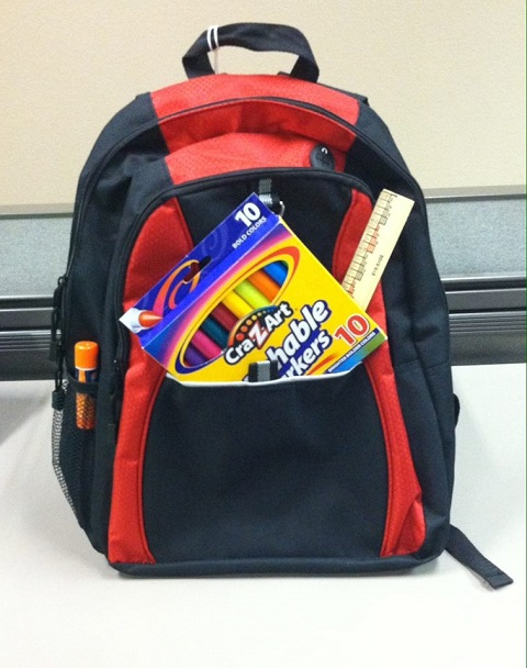 Donations equal new backpacks for kids BackpacksForDonations