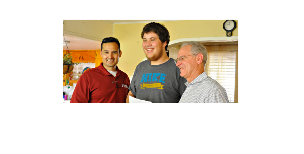 With TUSD Superintendent Dr. H.T. Sanchez And Former TUSD Student David Forster At A Steps To Success Walk, July 2014. David's Was One Of The Doors We Knocked On. Since Then, He's Re-enrolled, Graduated From High School, And Appeared In A KUAT Video. [Photo: Jes Rubalcava, TUSD]