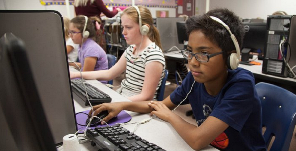 Mesa Public Schools Students Practicing For AzMERIT. Photo Courtesy Mesa Public Schools