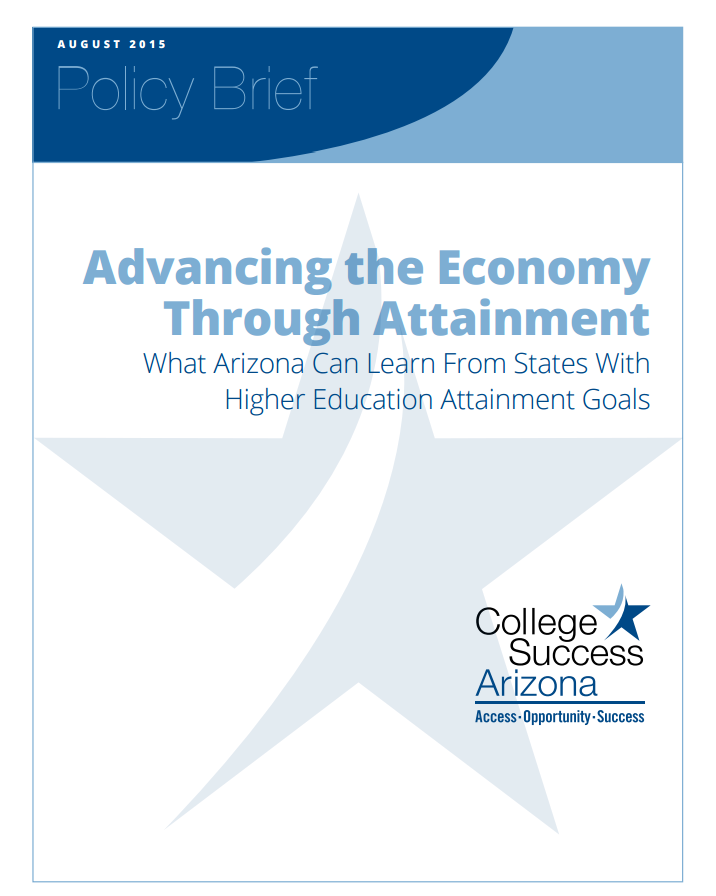College Success Arizona brief shows need to raise certificate, degree attainment PolicyBriefCover