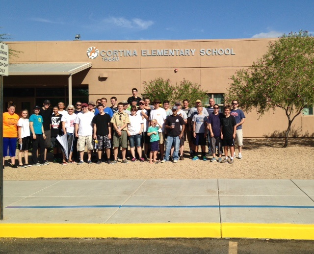 Scout refreshes paint at Higley's Cortina Elementary School Wesley-Atkin-Eagle-ScoutInside