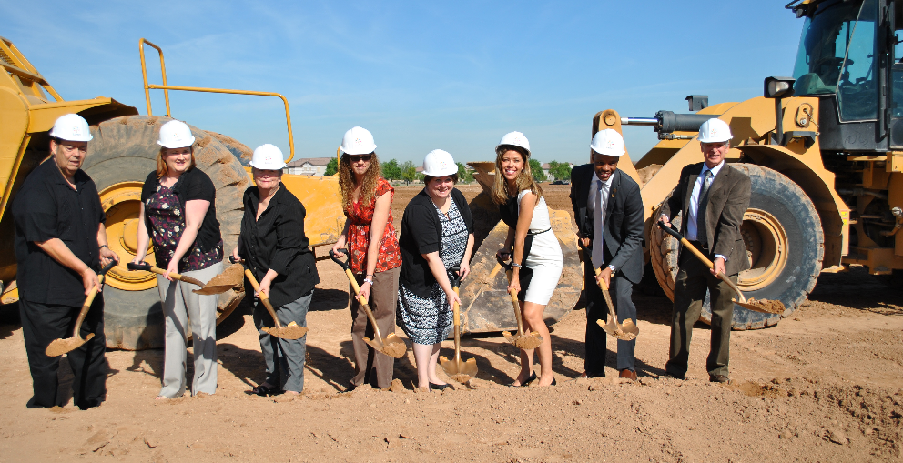 Laveen Governing Board Members And Legislators From District 27 Join District Superintendent Dr. Bill Johnson In The Groundbreaking. Photo Courtesy Laveen Elementary School District
