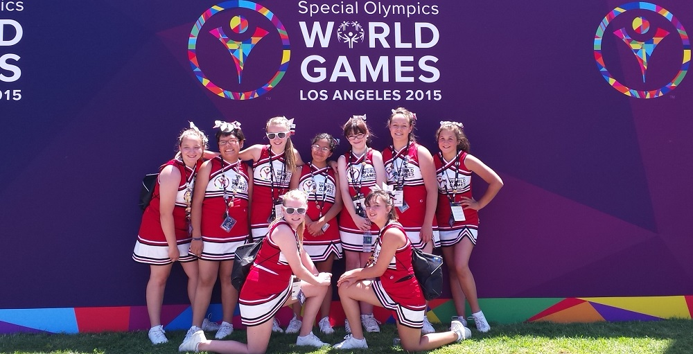 Sinagua Middle School Special Olympics Cheer Squad Traveled To California To Join Over 230 Cheerleaders In The World's Largest Sports And Humanitarian Event In The Year 2015. The Girls Were Part Of The First Ever Group Of Cheerleaders To Participate In The Special Olympics World Games As An Official Organized Program. Photo Courtesy Flagstaff Unified School District