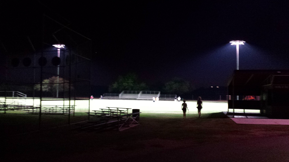Tanque Verde High School first in Tucson to go green with LED field lights TanqueVerdeLEDLightsInside