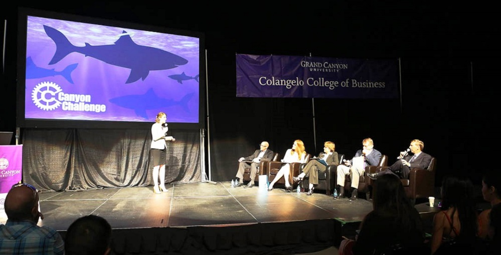 The 2015 Canyon Challenge, A Shark-Tank Style Event Where Teams Of Grand Canyon University Students Compete For Capital For Start-up Business Ventures. Photo Courtesy Of Grand Canyon University