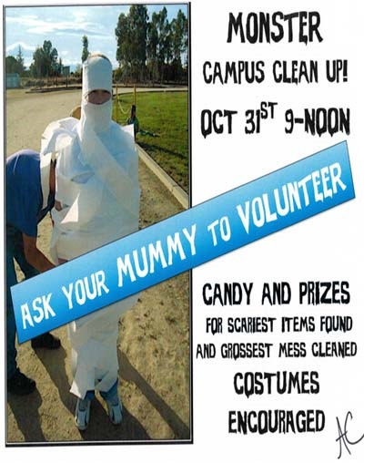 Rincon/University High School hold Monster Cleanup on Halloween morning rinconuhscleanup