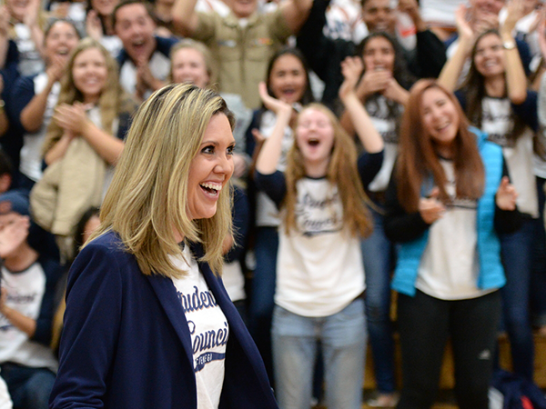 Two Arizona teachers honored with Milken Educator Awards BrittanyMatsuchinoWithStudents