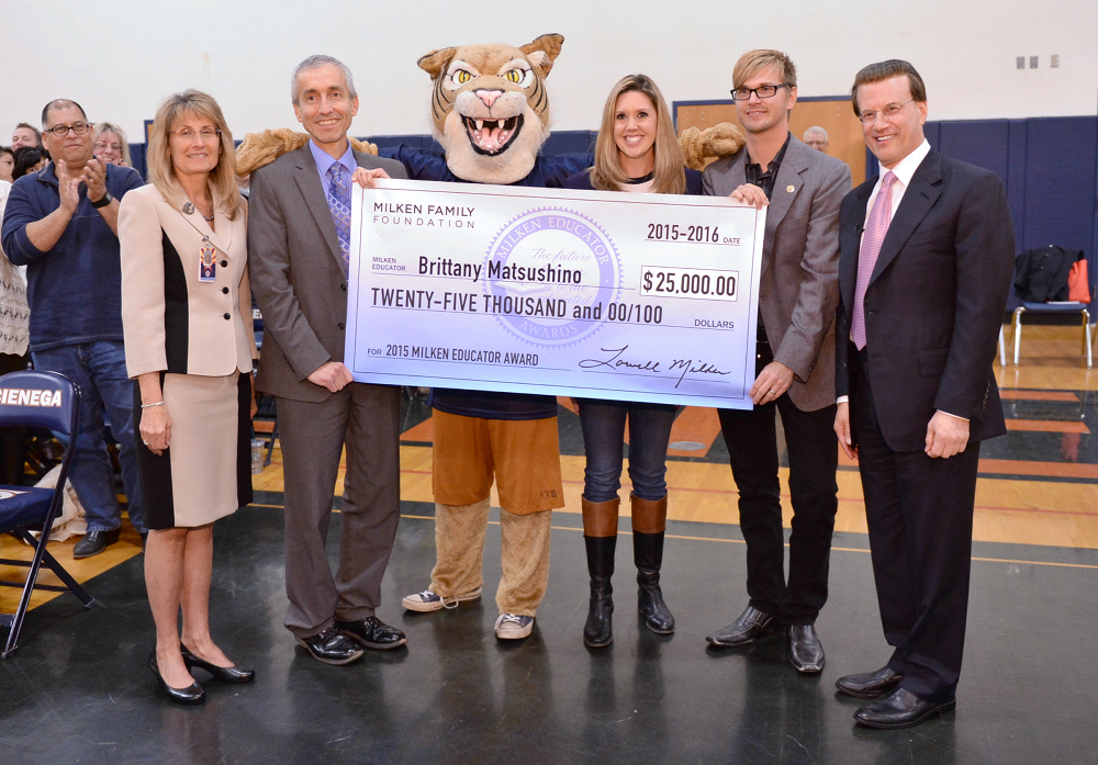 Two Arizona teachers honored with Milken Educator Awards BrittanyWithGroup