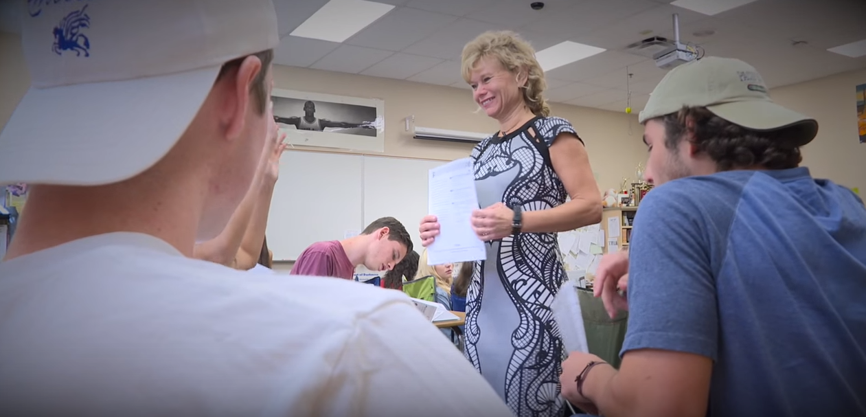 AZ Teacher of the Year: Changing the world one student at a time ChristineMarshWithStudents5