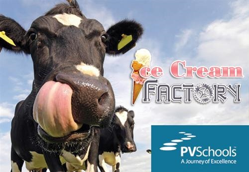 From Cow to Cone - Ice Cream Factory teaches students the science IceCreamFactoryInside