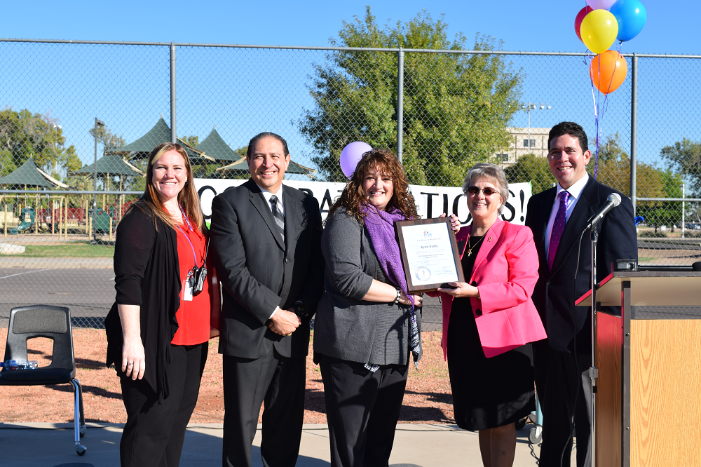 Cartwright teacher named ELL Teacher of the Year KarenHurley2015ArizonaELLTeacherOfTheYear