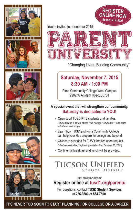 Create a college-bound culture with Parent University ParentUniversityFlierCropped